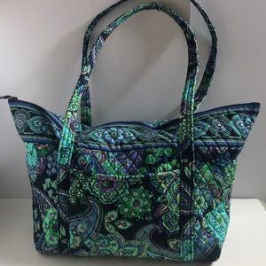 Large Vera Bradley Zip top Tote Bag